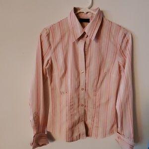 New York & Company Stretch Striped Blouse-XS